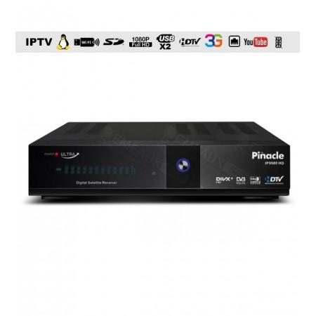 """Pinacle IP 9500 HD ULTRA + Abonnement 12 mois + IPTV 12 Mois Constructeur """" Offert"""""""